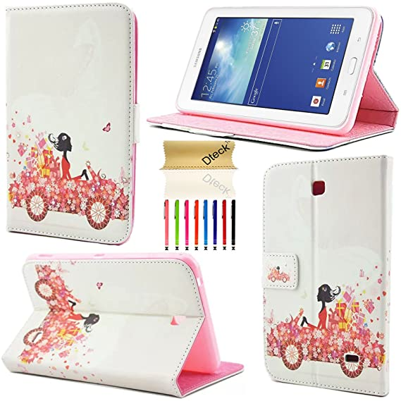 competitive price 2f531 1f3ca Galaxy Tab 4 7.0 (SM-T230) Case, Dteck(TM) Bling Diamond Design PU Leather  Design [Kickstand] Flip Folio Protective Cover Case for Samsung Galaxy Tab  ...