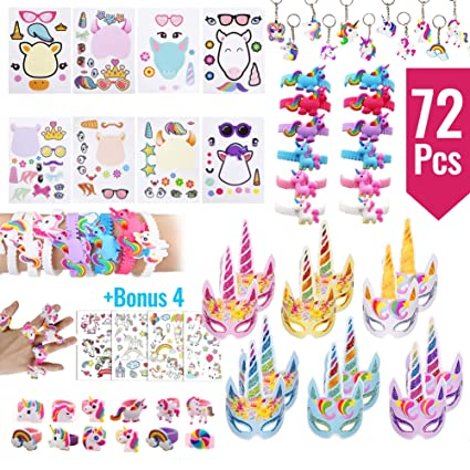 Amazon.com: Party Avenue Unicorn Party Favores suministros ...