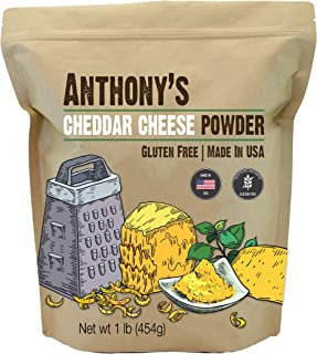 product image for Anthony's Premium Cheddar Cheese Powder, 1 lb, Batch Tested and Verified Gluten Free, No Artificial Colors, Keto Friendly