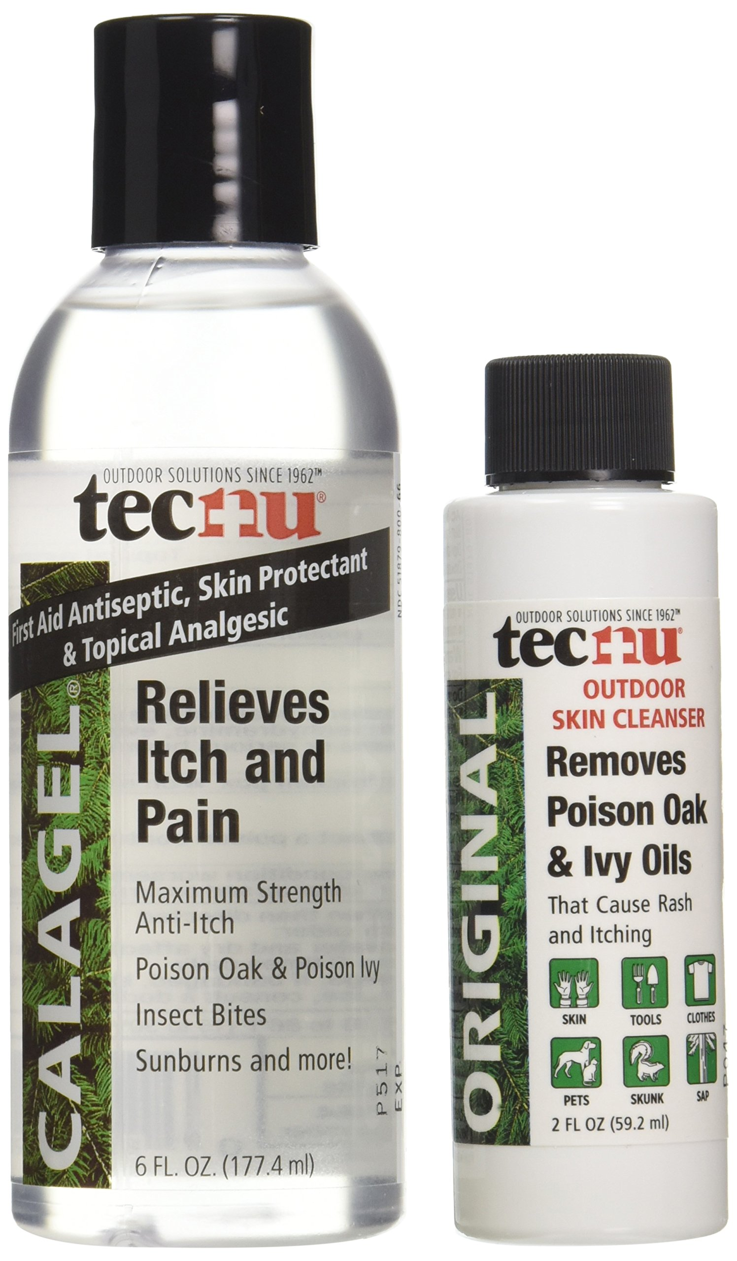 GRABBER OUTDOORS Calagel Anti-Itch Gel with Free Tecnu Outdoor Skin Cleanser, 3 Count