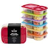 California Home Goods Kid's Bento Box Food and Lunch Container Set, Set of 6, Multi-Colored