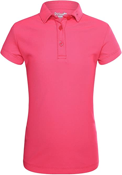 JITIMAO Polo de Golf para Niñas Seco Ajuste Camisa con Mangas ...