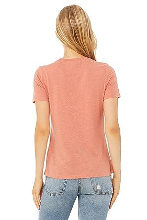 Canvas Women/'s Relaxed Short Sleeve Jersey Tee T-Shirt 6400 S-2XL Bella