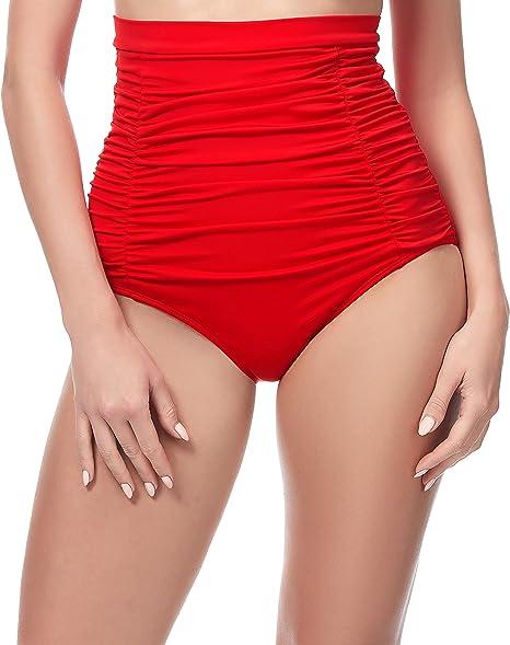 TALLA 40. Merry Style Bragas de Bikini Altas Parte de Abajo Bañador Corte Alto Mujer MS10-146