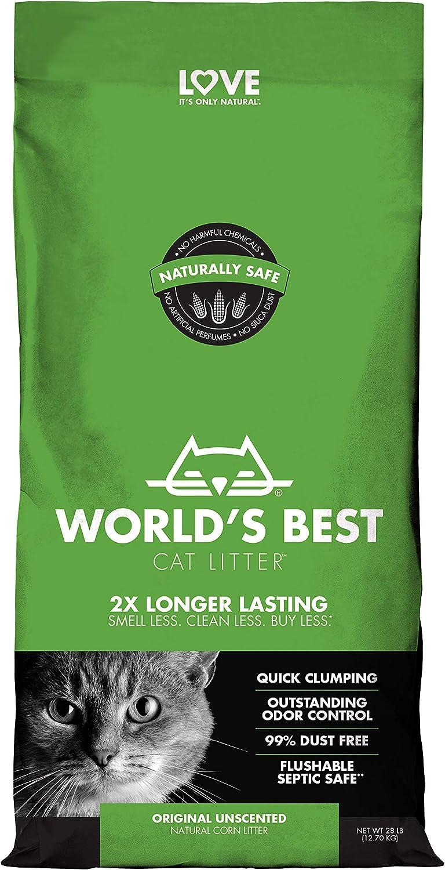 Pack of 2 28-Pounds Worlds Best Cat Litter Clumping Litter Formula