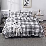 Nokolulu Farmhouse Buffalo Check Gingham Simple Geometric Square Pattern Bedding Set Modern and Fashionable Plaid Anti…