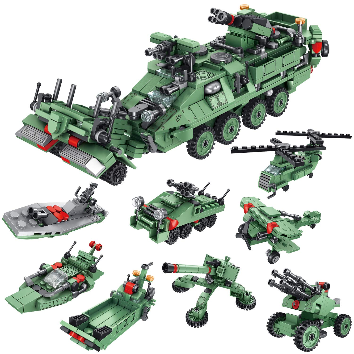 Model Building Aircraft Tank Armored Vehicle Instrument Table Weapons Original Toy Swat Police Military Weapons Accessories Compatible