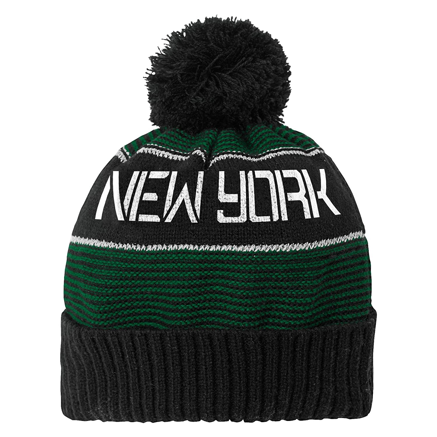 NFL Youth Boys Magna Reflective Cuffed Knit Hat with Pom