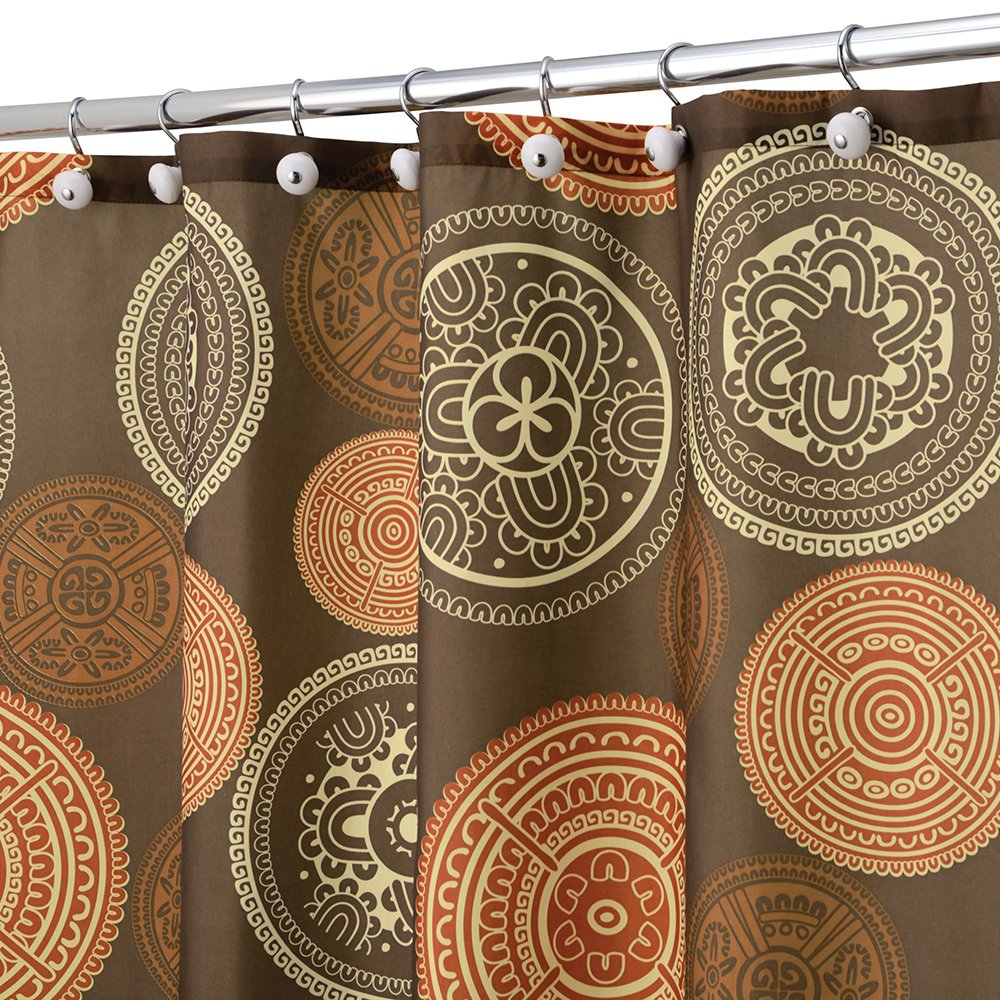 orange and brown shower curtain. Amazon com  InterDesign Bazaar Fabric Shower Curtain 72 x Spice Brown Home Kitchen