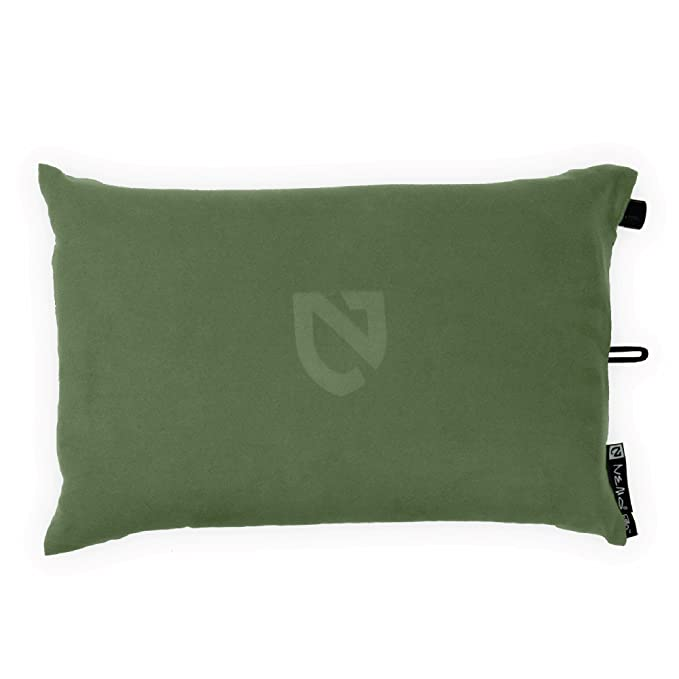 Nemo Fillo Inflatable Travel Pillow, Moss Green - Adjustable and Easy to Clean
