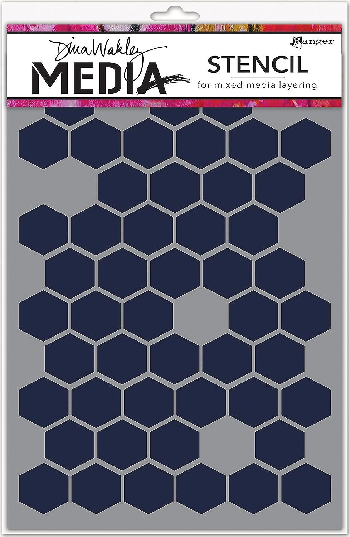 Ranger MDS58250 Dina Wakley Media Stencils 9X6-Honeycomb, Honey Comb