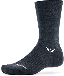 product image for Swiftwick- PURSUIT SEVEN Hiking & Cycling Crew Socks, Durable, Merino Wool