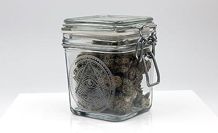 Dope Jars   Herb Storage, Swing Top Stash Jar   With Dope Designs Deep  Etched