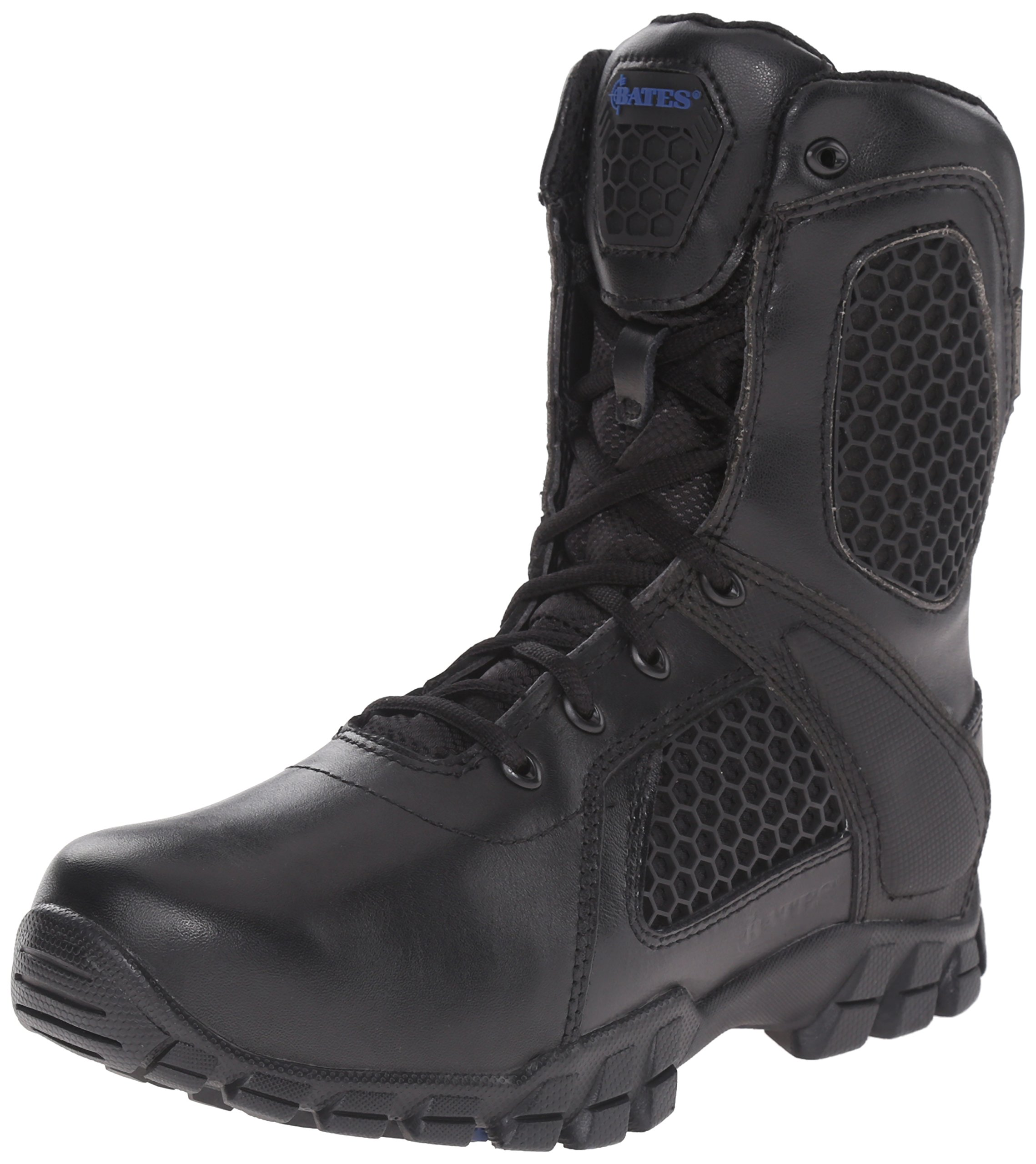 Bates Women's Strike 8 Inch Side Zip Military & Tactical Boot, Black, 9.5 M US by Bates