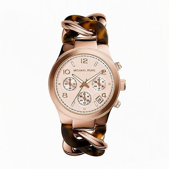 Michael Kors MK4269 - Reloj de cuarzo para mujer, con correa de acero inoxidable, color marrón: Michael Kors: Amazon.es: Relojes