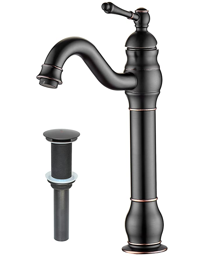 Best Bathroom Sink Faucets: MYHB 360° Swivel Bathroom Vessel Sink Faucet