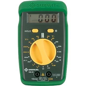 greenlee dm 40 manual ranging 600 volt multimeter checks ac dc rh amazon com greenlee dm-40 user manual Operators Manual