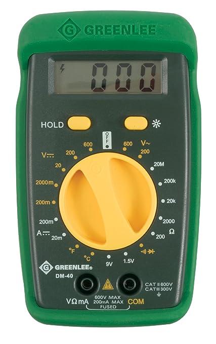 greenlee dm 40 manual ranging 600 volt multimeter checks ac dc rh amazon com Instruction Manual Book Instruction Manual Book
