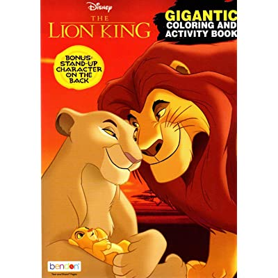 Disney - The Lion King - Gigantic Coloring & Activity Book - 200 Pages: Toys & Games