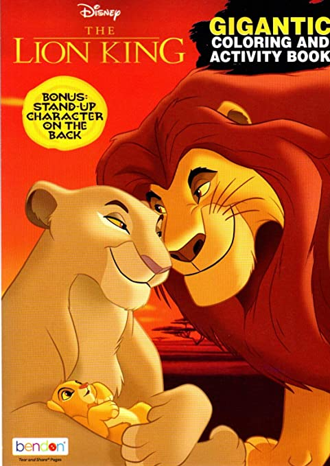 - Amazon.com: Disney - The Lion King - Gigantic Coloring & Activity Book -  200 Pages: Toys & Games