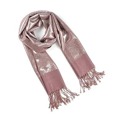 Etole festive brillante Fern taupe  Amazon.fr  Vêtements et accessoires c33ea84cdf9