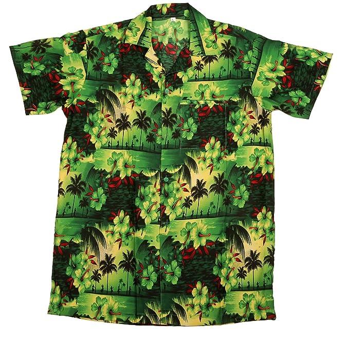 e49162b05 SAITARK Mens Hawaiian Shirt STAG Beach Hawaii Aloha Party Summer Holiday  Fancy Paradise: Amazon.co.uk: Clothing