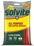 Solvite Extra-forte tous usages Fast Mix Lot de 10 rouleaux de Papier peint adhésif à suspendre,185 g