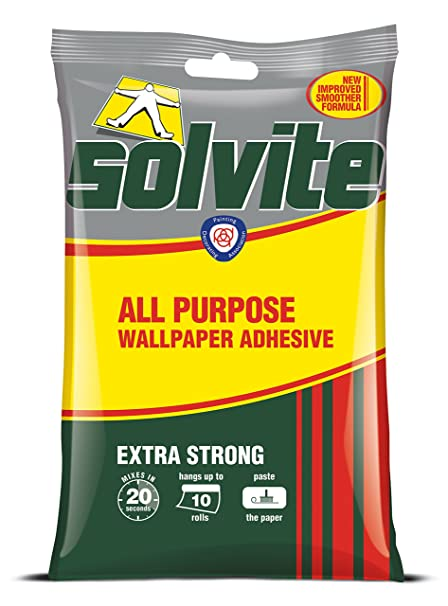 Solvite All Purpose 10 Roll Sachet Wallpaper Adhesive / 1 x 185g: Amazon.co.uk: DIY & Tools