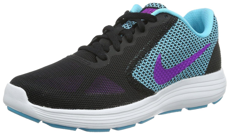 Nike Wmns Revolution 3, Zapatillas de Running para Mujer 36 EU|Negro (Black / Hypr Violet-gmm Bl-white)