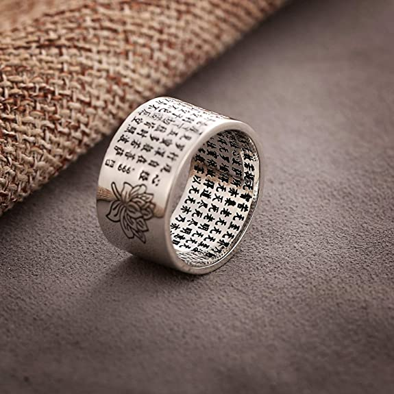 Bishilin S925 Silver Heart Wedding Bands Love U Ring For Womens Size 6.5
