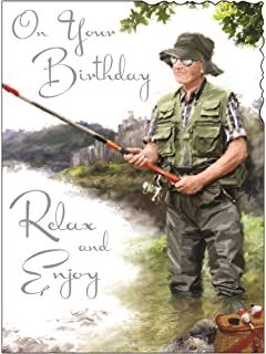 Humour birthday card fishing in the rain amazon office on your birthday relax and enjoy card bookmarktalkfo Gallery