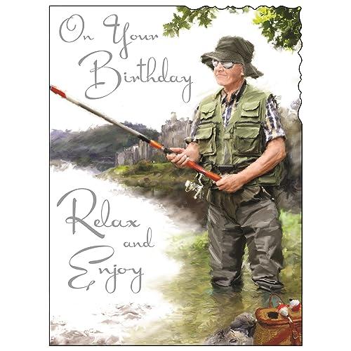 Fishing Birthday Card Amazoncouk