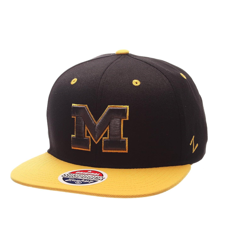 Adjustable Size Black//Team Color NCAA Michigan Wolverines Adult Mens Z11 Phantom Snapback Hat