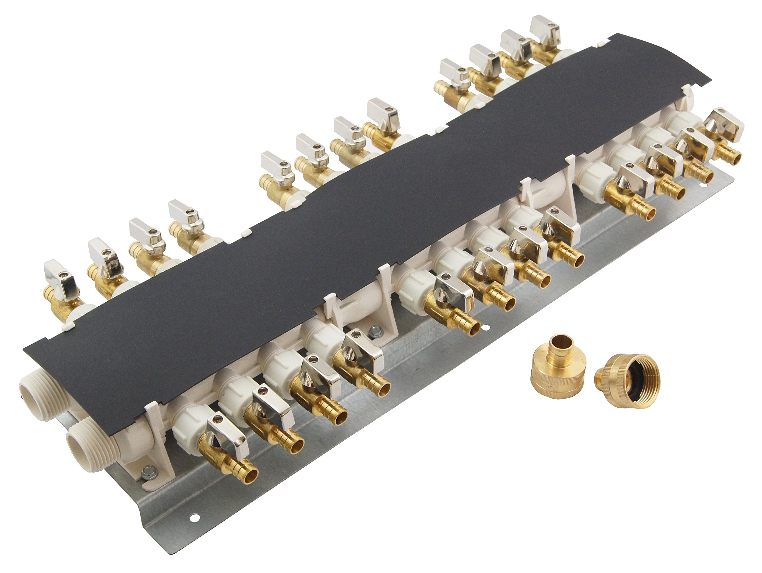 Apollo PEX 6907924CP 24 Port PEX Manifold (3/4-inch Inlets, 1/2-inch Outlets) with Shutoff Valves by Apollo Valves