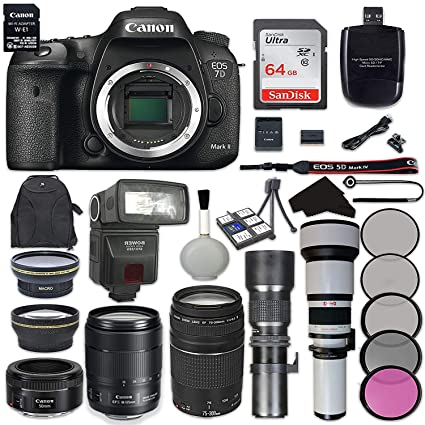 Amazon com : Canon EOS 7D Mark II Digital SLR Camera Bundle