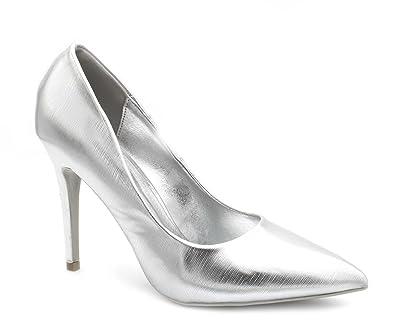 ba358ac3b82e2 Fashion Shoes - Escarpin Vernis Femme - Chaussures Haut Talon Sexy -  Escarpins Talons Aiguilles Fins
