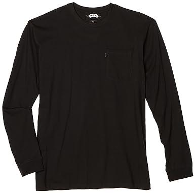 e6c257b10fab Amazon.com  Key Apparel Men s Long Sleeve Heavyweight Pocket T-Shirt ...