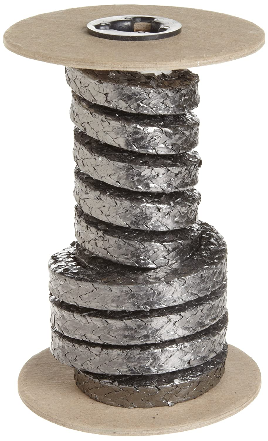 Shiny Gray 25 Length 5//16 Square Palmetto 5000 Series Flexible Graphite Compression Packing Seal