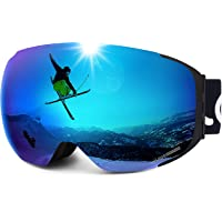 LEMEGO Gafas de Esquí, Gafas de Snowboard Sin