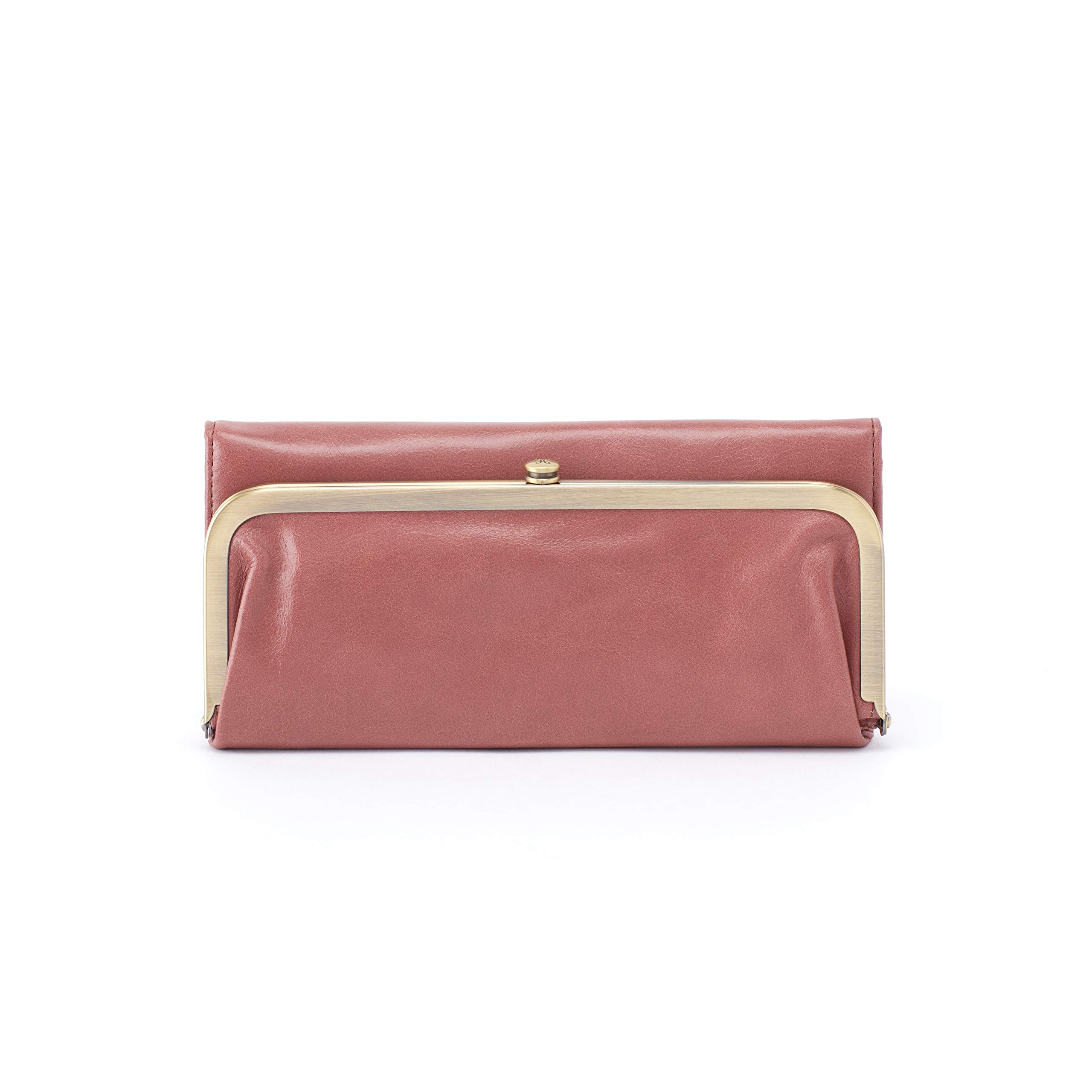 Hobo Womens Rachel Vintage Wallet Leather Clutch Purse (Burnished Rose)