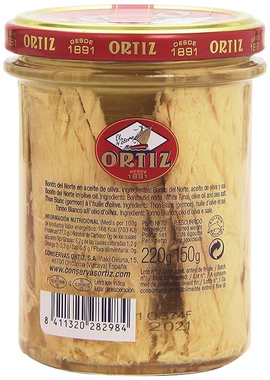 Ortiz El Velero - Bonito del norte - en aceite de oliva - 150 g ...
