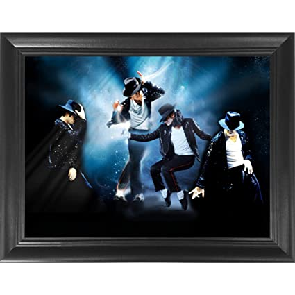 Michael Jackson King of Pop Moonwalk 3D Poster Wall Art Decor Framed Print  | 14 5x18 5 | Lenticular Posters & Pictures | Memorabilia Gifts for Guys &