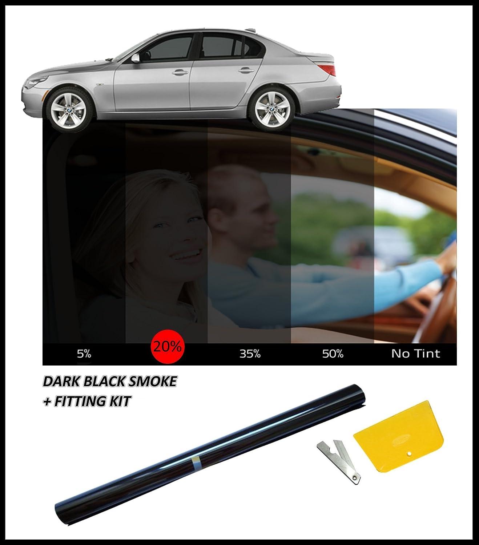 Amazon flexzon Dark Black Car Window Tint 76cm X 3M