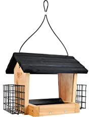 Nature's Way Bird Products CWF28 Cedar 3 Quart Hopper Bird Feeder with Suet, 10 X 25.5 X 18