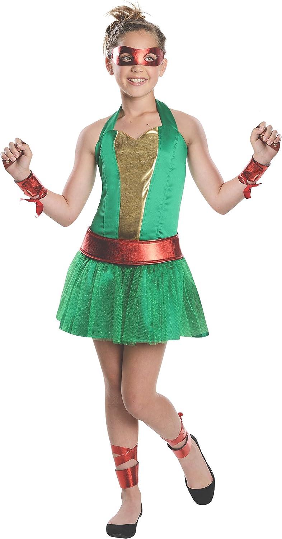 Disfraz de Raphael Las Tortugas Ninja para niña - 3-4 años: Amazon ...