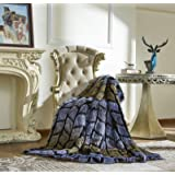 """Lindsey Home Fashion Faux Fur Throw, Blankets for Bed Super Soft Fiber, Mink, Wolf, Bear, Coyote, 60""""x84"""", 60""""x70"""", 60""""x60"""" ("""