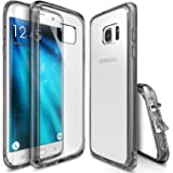 Galaxy S7 Edge Case, Ringke [FUSION Series] Brilliant Clear Minimal Hybrid Fortified PC Back TPU Bumper [Impact Resistant/Shock Absorption] For Samsung Galaxy S7 Edge - Smoke Black