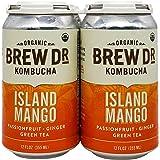 BREW DR Organic Island Mango Kombucha 4pk, 12 FZ