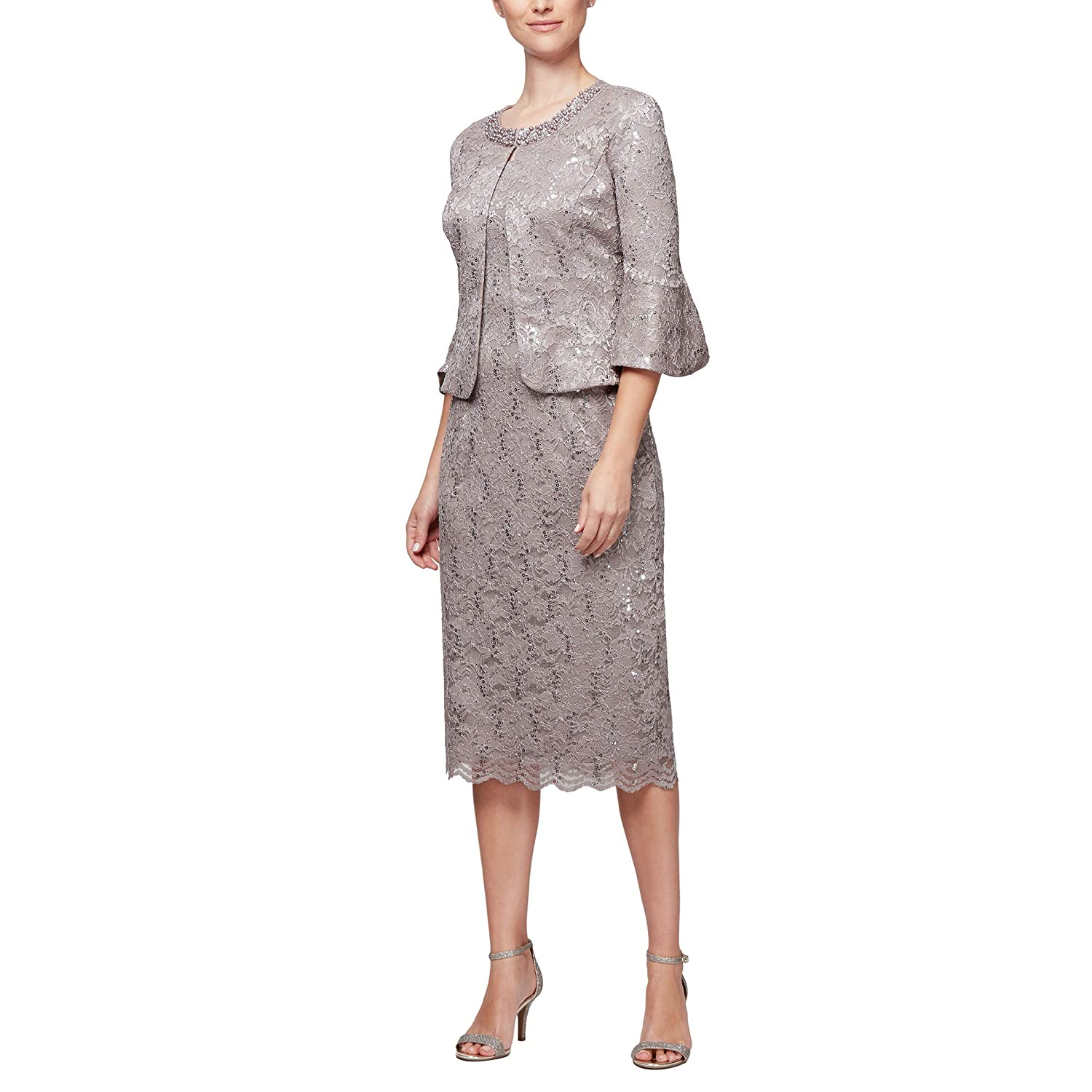 5f433d29d18 Top1  Alex Evenings Women s Tea Length Dress and Jacket (Petite and Regular  Sizes)
