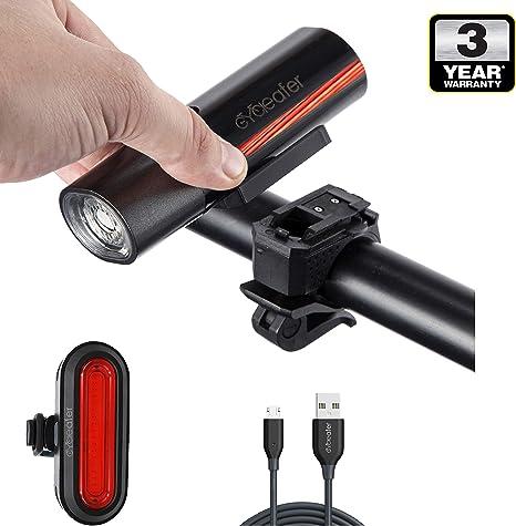 Cycleafer® Luz Bicicleta Recargable USB, Linterna Bicicleta con ...